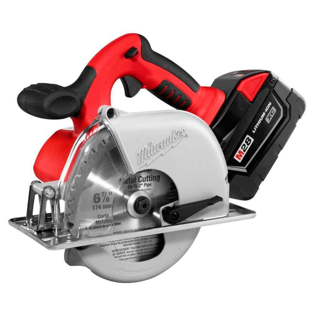 Milwaukee M28 28-Volt Lithium-Ion Cordless 6-7/8 in. Metal Cutting Circular Saw Kit w/ (1) 3.0Ah Battery, Charger