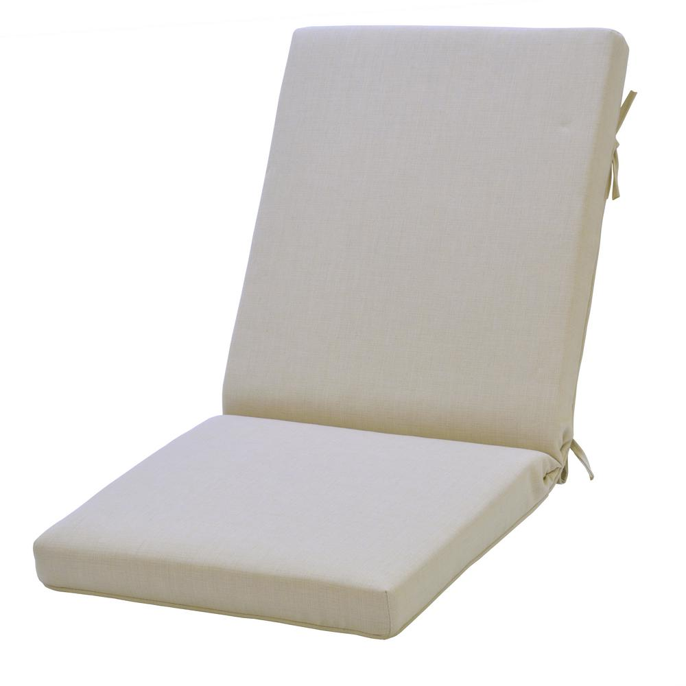 Oatmeal - Outdoor Chair Cushions - Outdoor Cushions - The Home Depot