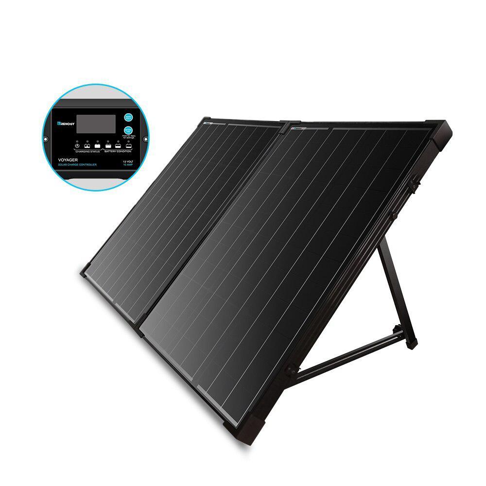 100-Watt 12-Volt Monocrystalline Foldable Solar Panel Suitcase
