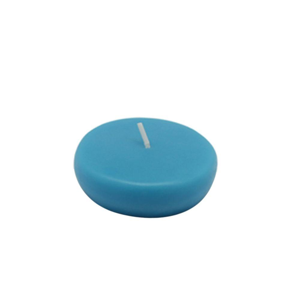 Zest Candle 2.25 in. Turquoise Floating Candles (Box of 24)