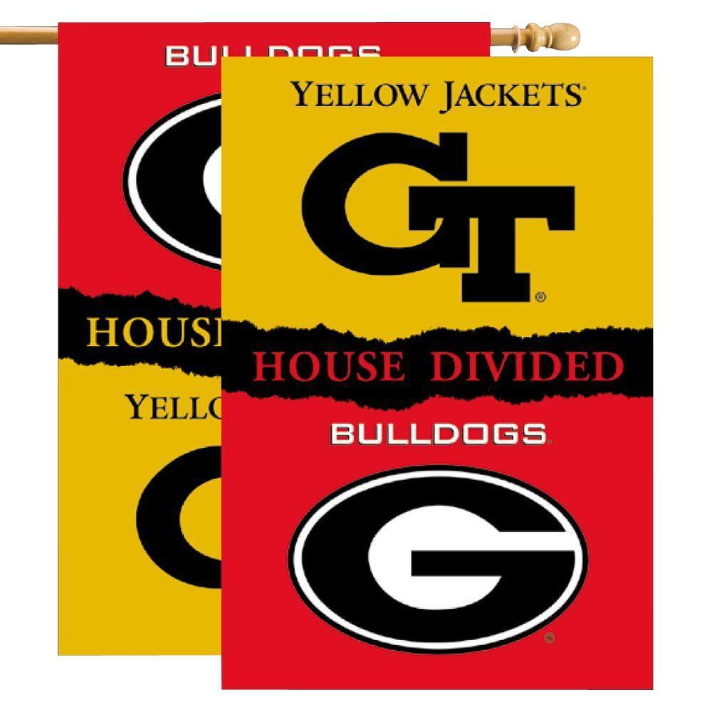 NCAA 28 in. x 40 in. Georgia/GA Tech Rivalry House Divided