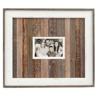 Natural Variegated Wood 8 in. x 10 in. Planked Frame