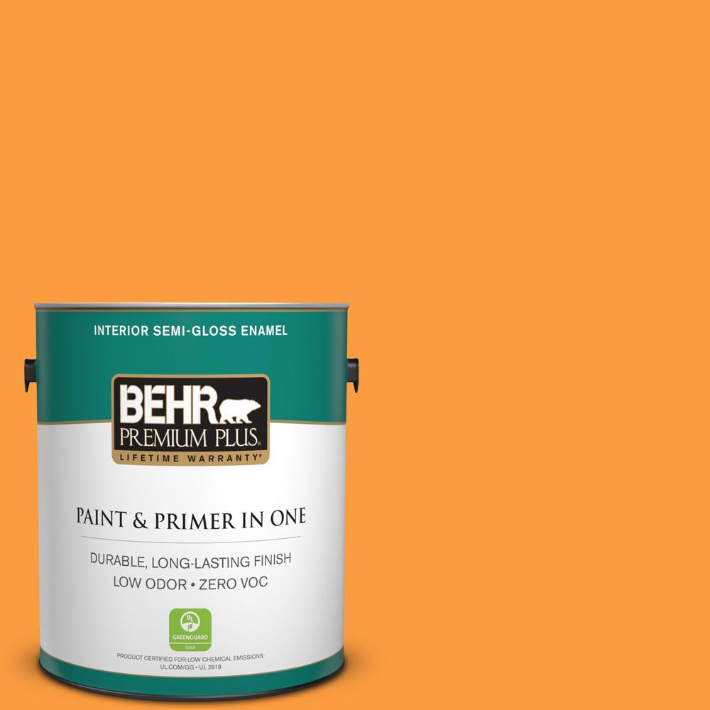 BEHR Premium Plus 1-gal. #P240-6 Exotic Blossom Semi-Gloss Enamel Interior Paint