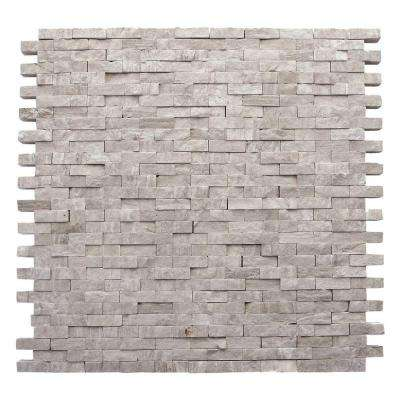 Haisa Marble Light Split Face 12 in. x 12 in. x 9.52 mm Marble Mesh-Mounted Mosaic Wall Tile (10 sq. ft. / case)