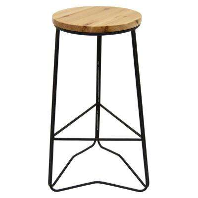 27.5 in. Wood and Metal Bar Stool