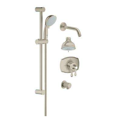 GrohFlex 24 in. Retrofit Shower System in Brushed Nickel InfinityFinish