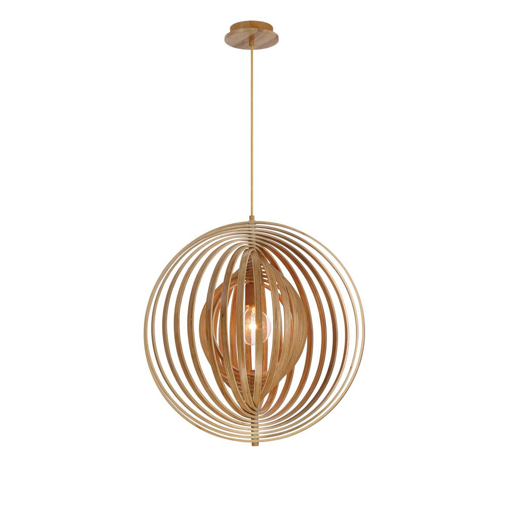 Abruzzo Collection 1-Light Large Wood Pendant