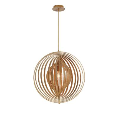 Abruzzo Collection 1-Light Large Wood Pendant