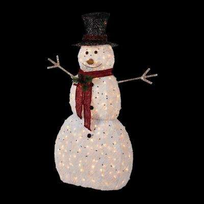 5 ft. Pre-Lit Snowman with Hat