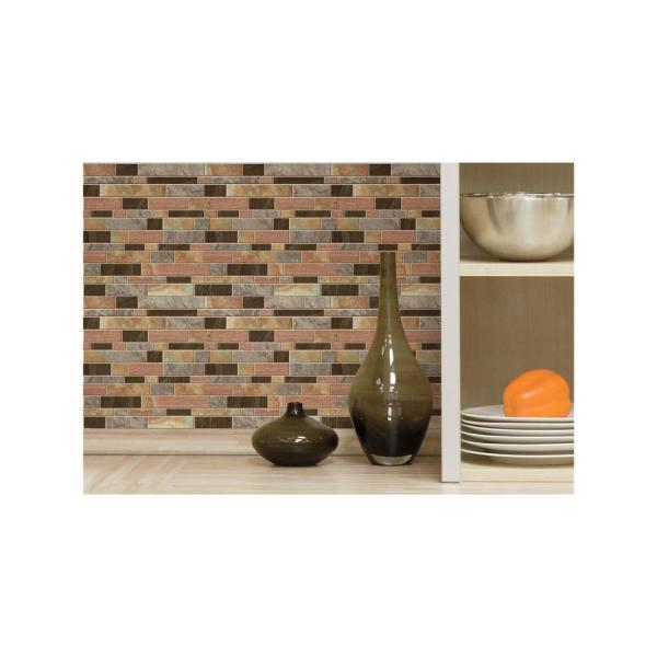 StickTiles 10.5 in. W x 10.5 in. H Modern Long Stone