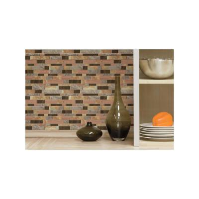 10.5 in. W x 10.5 in. H Modern Long Stone Peel and Stick Decorative Tile Backsplash (4-Pack)