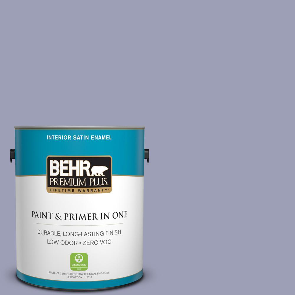1-gal. #630F-4 Wild Thistle Zero VOC Satin Enamel Interior Paint