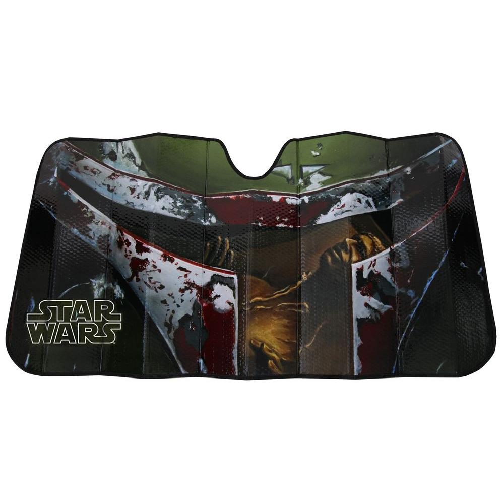 Plasticolor Star Wars Boba Fett Accordion Windshield Sunshade ... a8c3b266b9b