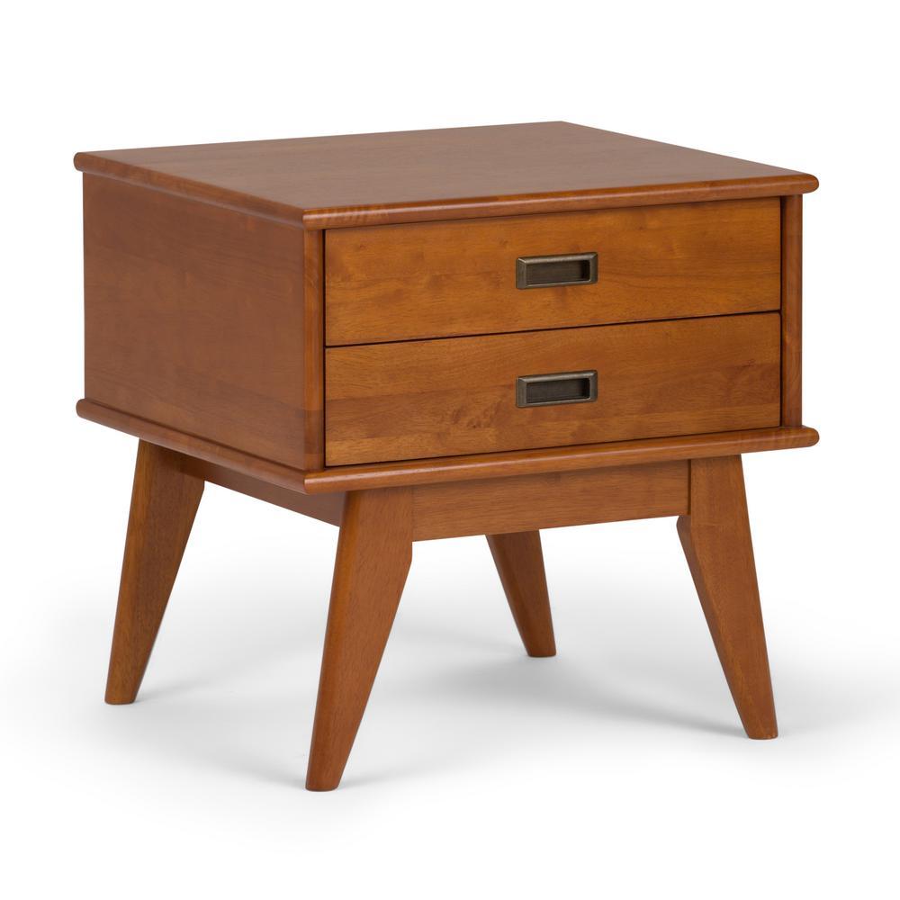Draper Mid Century Teak Brown Side Table