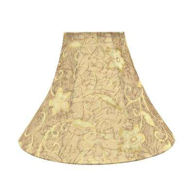 Brown And Floral Pattern Bell Lamp Shade