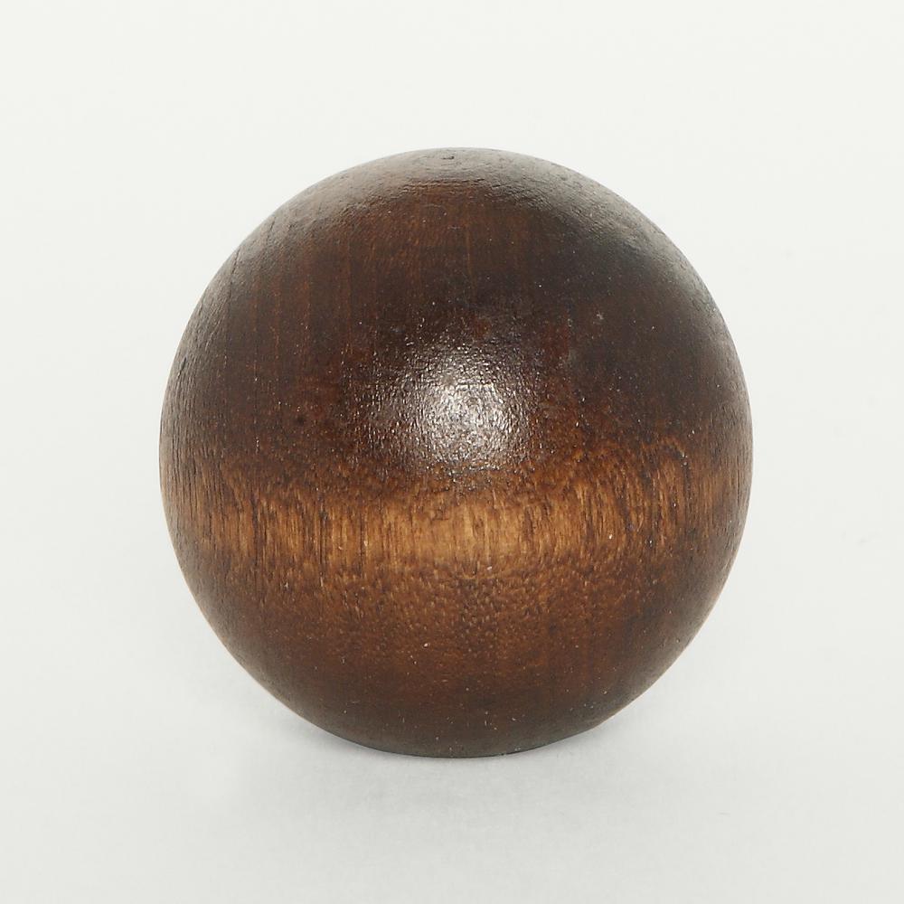 Mario Industries Walnut Wood Ball Lamp Finial W6 The