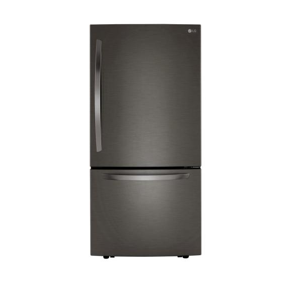 25.50 cu. ft. Bottom Freezer Refrigerator in PrintProof Black Stainless Steel with Filtered Ice