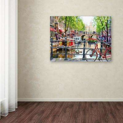 """35 in. x 47 in. """"Amsterdam Landscape"""" by The Macneil Studio Printed Canvas Wall Art"""