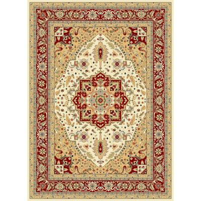 Lyndhurst Ivory/Red 8 ft. x 10 ft. Area Rug