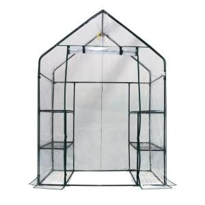 Ogrow 56 inch W x 29 inch D Deluxe Walk-In 3-Tier 6 Shelf Portable Greenhouse by Ogrow