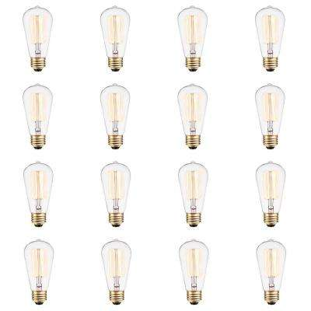 Vintage 60-Watt Incandescent S60 Antique Style Light Bulb - Vintage Style Light Bulb (12-Pack)
