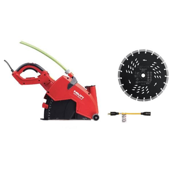 12 in. 23 Amp Hand Held Corded DCH 300-X Diamond Cutting Saw with 2 SPS Universal Blades and Twist Lock