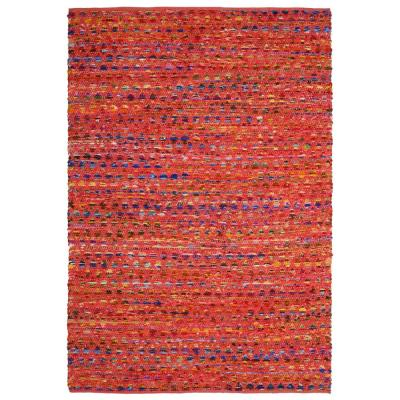 Blush Cotton 2 ft. 6 in. x 4 ft. 2 in. Accent Rag rug