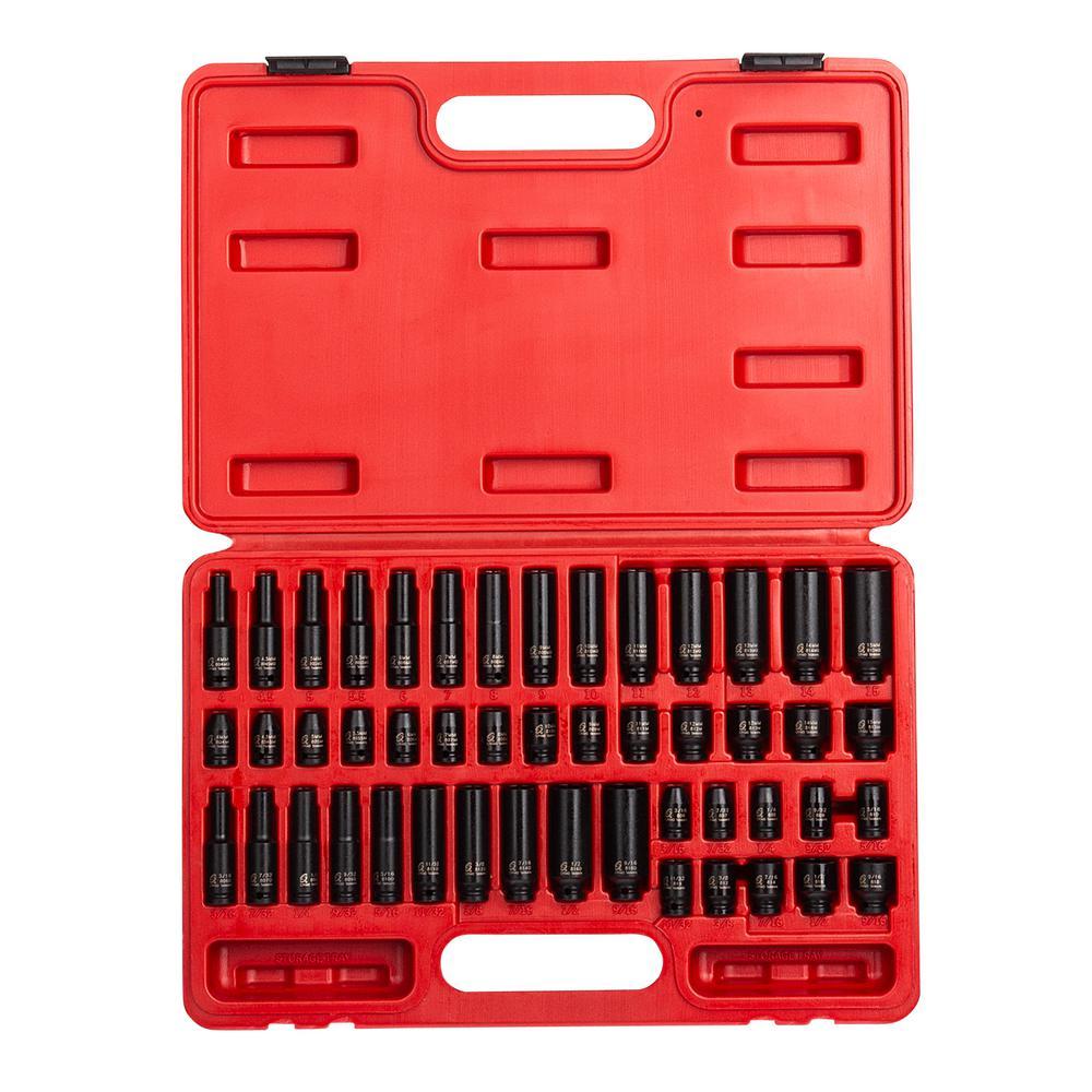 Sunex 1810 10 Piece 1//4 Drive Standard SAE Impact Socket Set