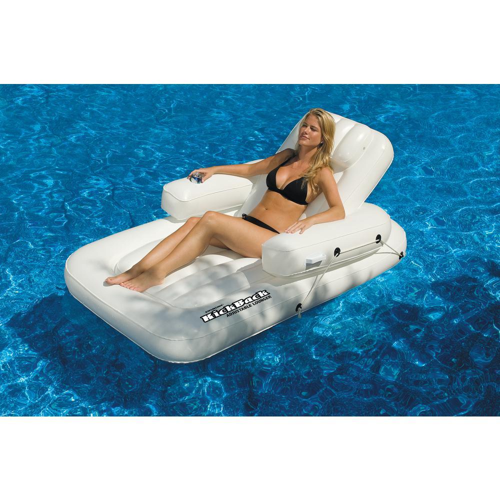 Swimline New Swimming Pool Inflatable Kickback Lounger Adjustable Float