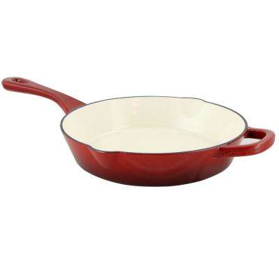 Artisan Enameled Cast Iron Skillet with Helper Handle