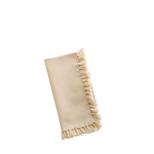 Ecru Essential Fringed Napkins (Set of 4)