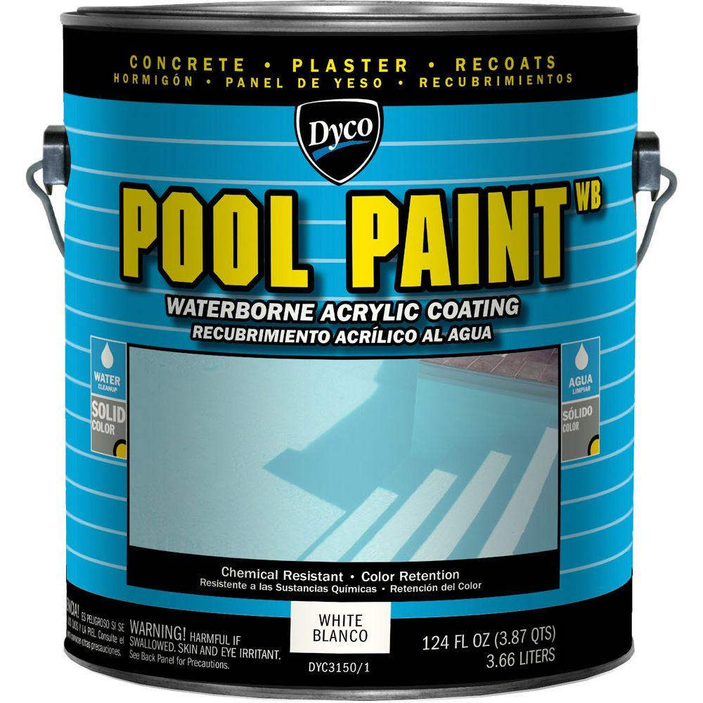 Pool Paint 1 Gal. 3150 White Semi-Gloss Acrylic Exterior Paint
