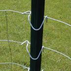 Everbilt 1-3/4 in  x 3-1/2 in  x 7 ft  Powder-Coated Green Steel Fence  T-Post