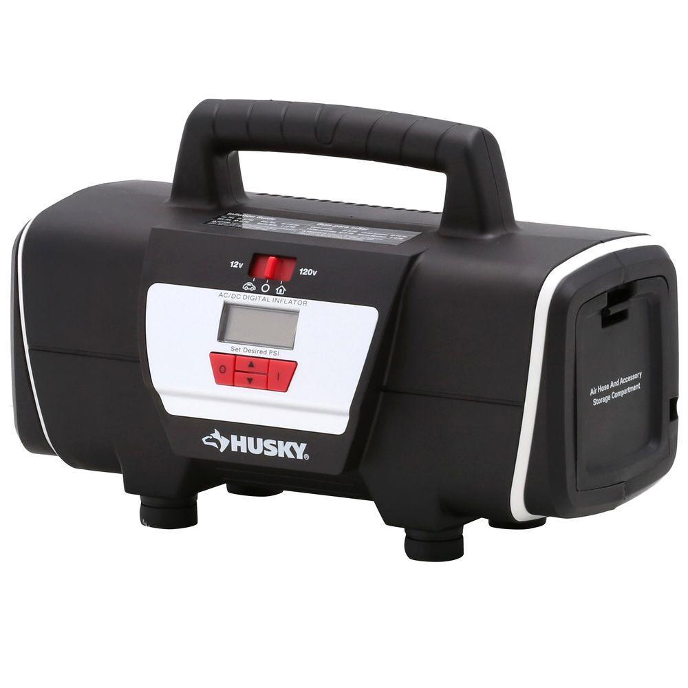 Husky 12-Volt/120-Volt Home and Auto Inflator by Husky