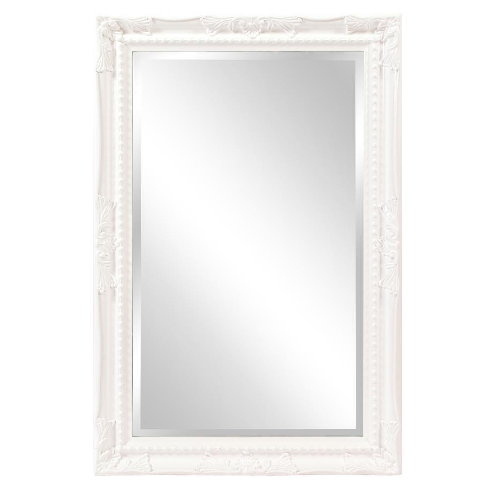 Queen Ann Rectangular White Mirror