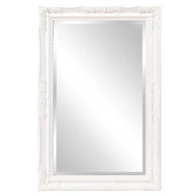Queen Ann Rectangular White Mirror