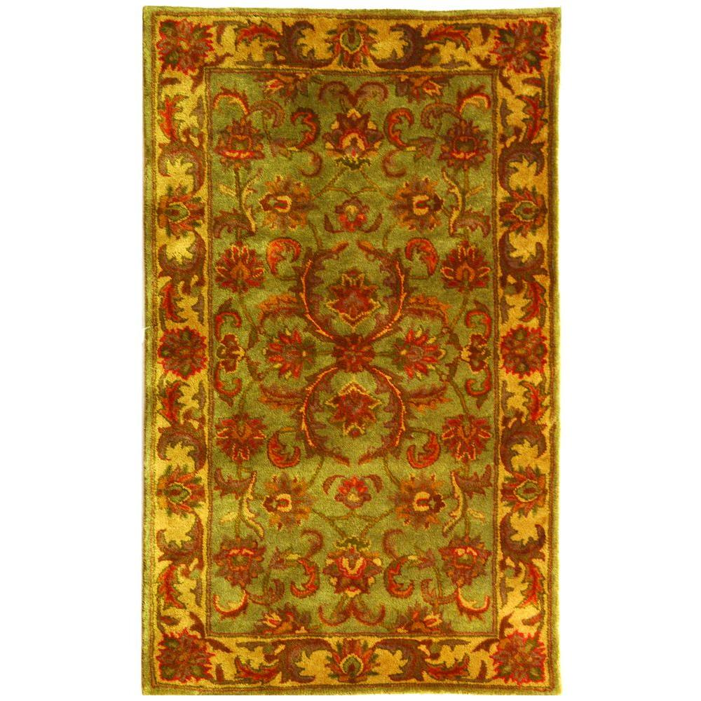 Heritage Green/Gold 2 ft. x 3 ft. Area Rug