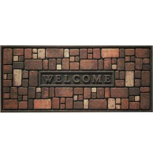 Apache Mills Rock Wall 21 inch x 48 inch Recycled Rubber Door Mat by Apache Mills