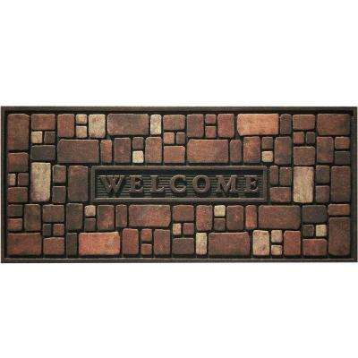 Rock Wall 21 in. x 48 in. Recycled Rubber Door Mat