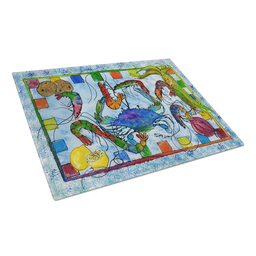Crab Tempered Glass Large Cutting Board