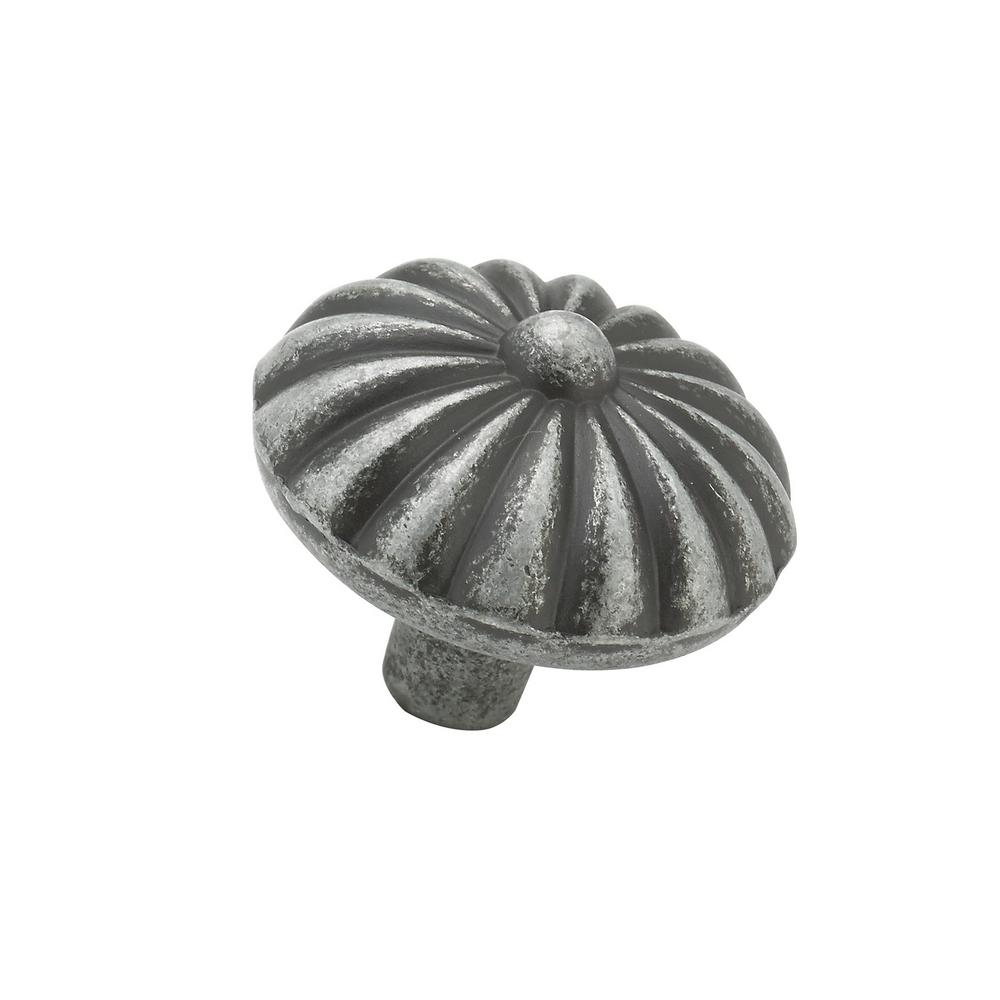 1-1/4 in. Natural Iron Cabinet Knob