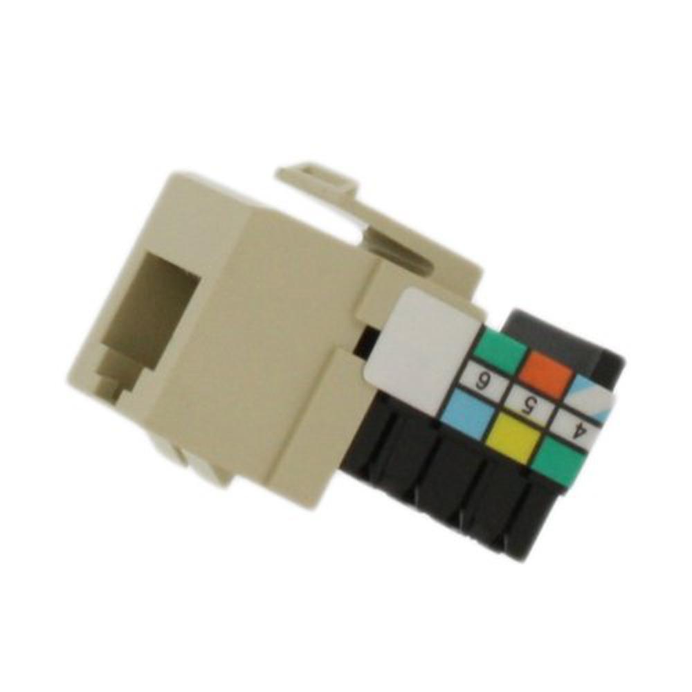 QuickPort 6P6C Voice Grade Connector, Ivory