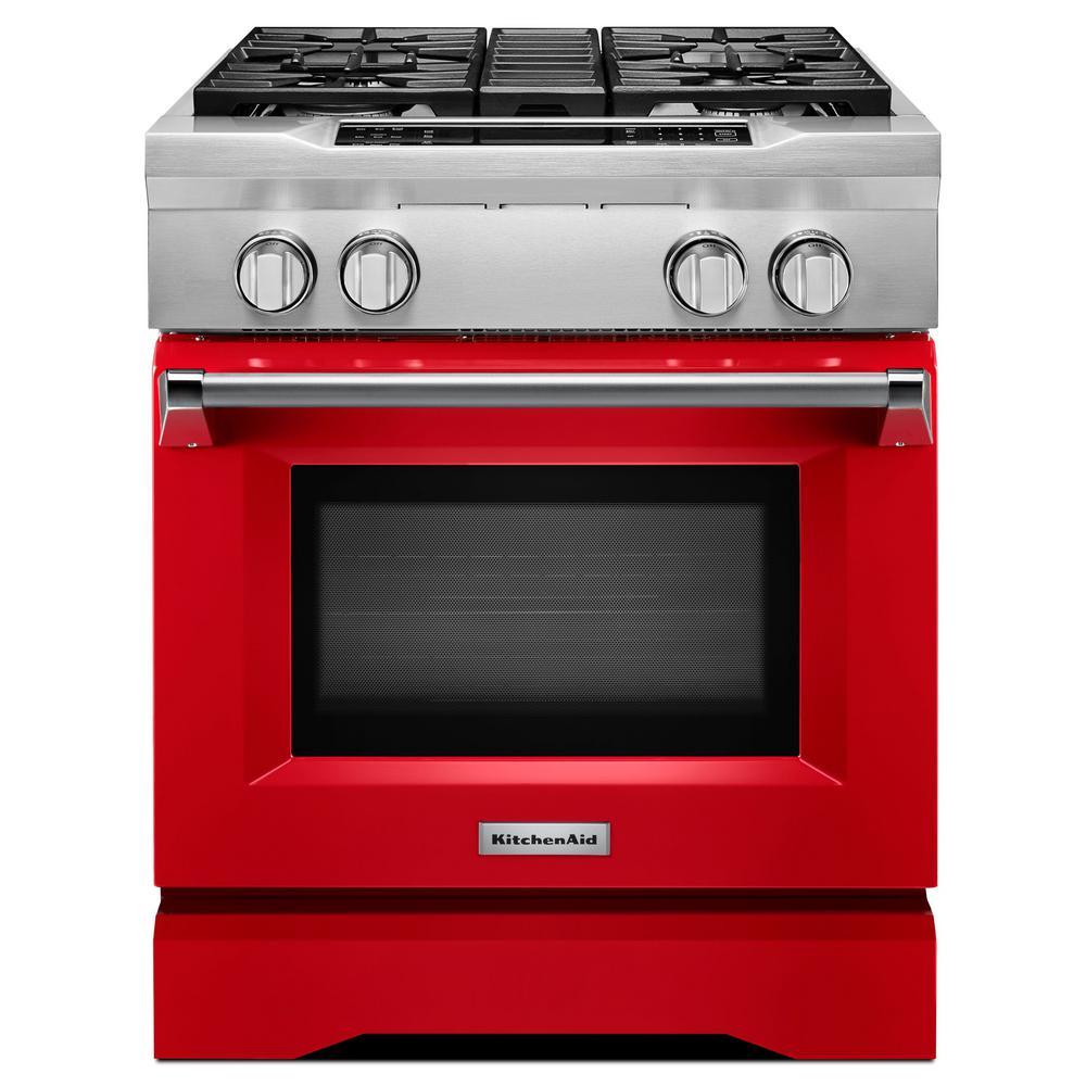 KitchenAid 4.1 Cu. Ft. Dual Fuel Commercial-Style Range
