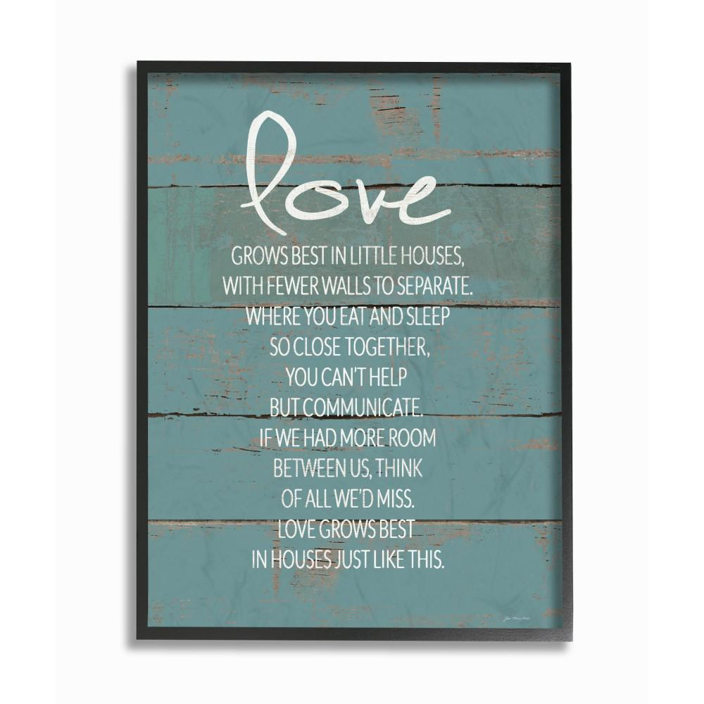 The Stupell Home Decor Collection 11 In X 14 In Love Grows Best