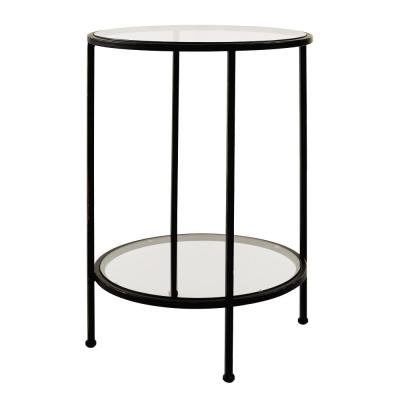 Bella Glass Antique Bronze End Table