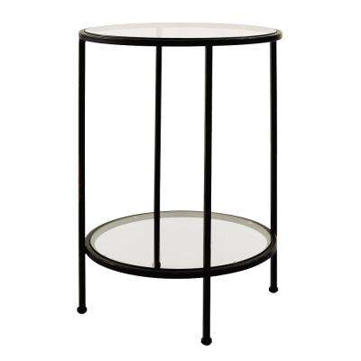 Bella Glass Antique Bronze End Table. Antique Bronze; Aged Silver; Aged Gold