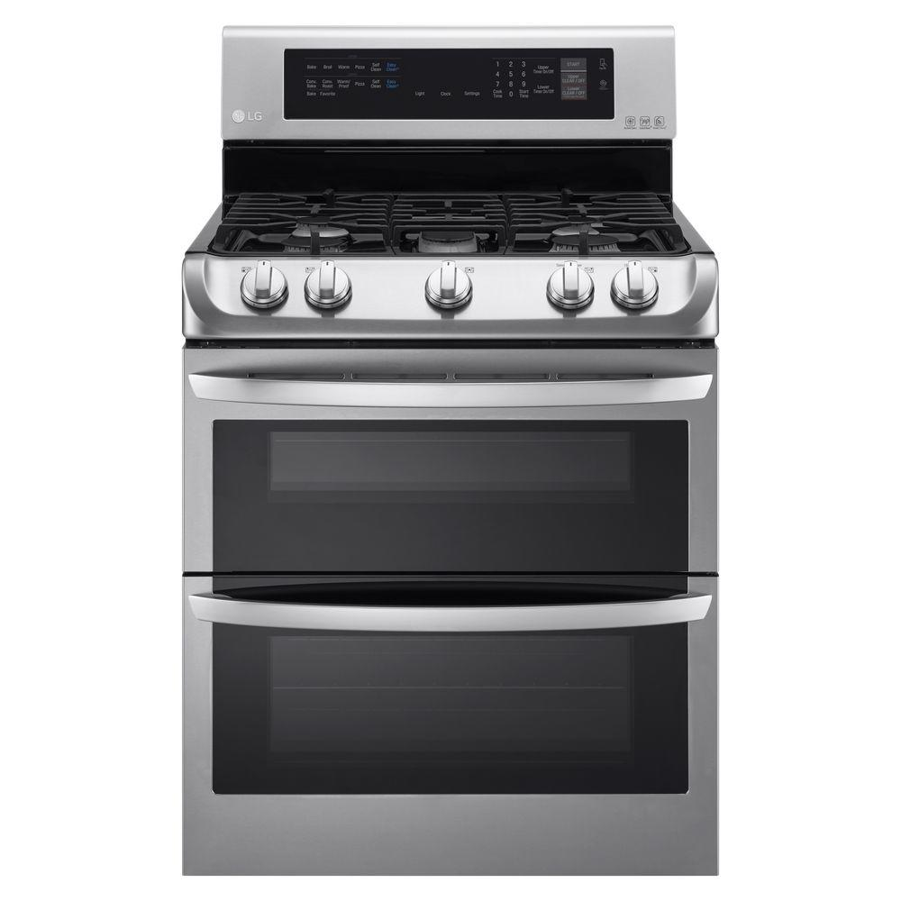 Double Oven Gas Range With Probake Convection