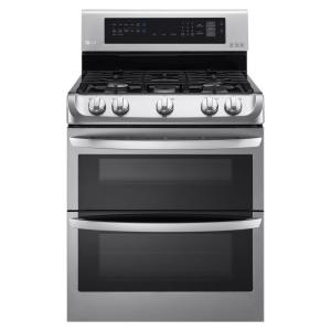 Click here to buy LG Electronics 6.9 cu. ft. Double Oven Gas Range with ProBake Convection Oven in Stainless Steel by LG Electronics.