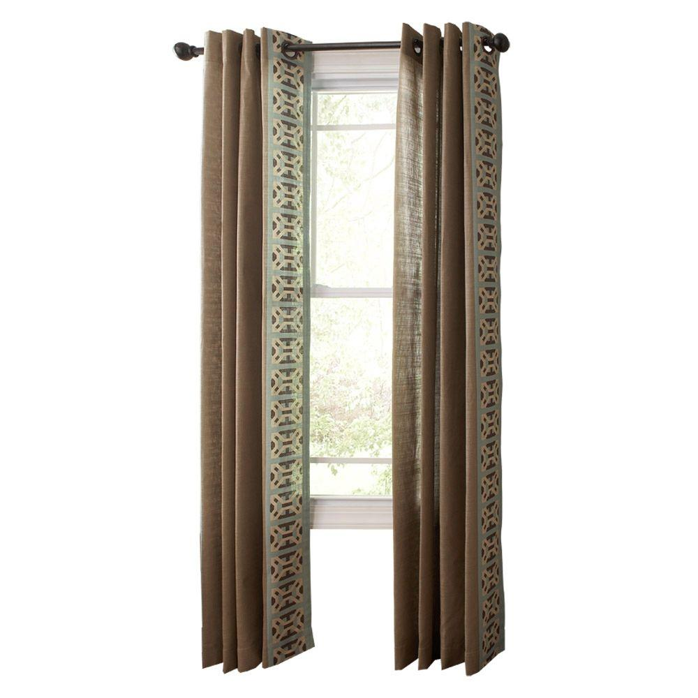 Martha Stewart Living Snail Shell Geo Border Grommet Curtain