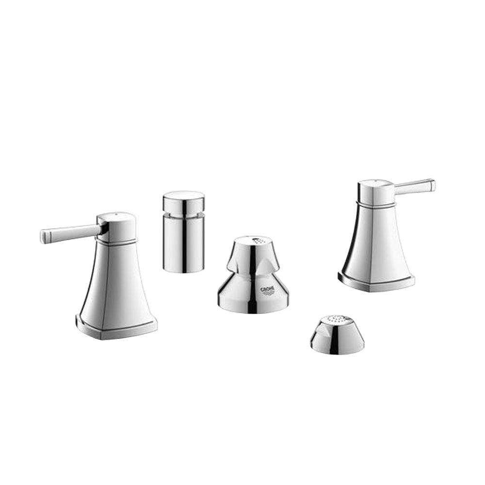 GROHE Grandera 2-Handle Bidet Faucet in StarLight Chrome-24034000 ...